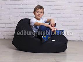 Крісло мішок груша дитяча | чорний Oxford, фото 3