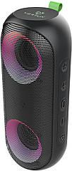Портативна Bluetooth колонка з LED Vertux Rumba 14 Вт IPX6 Black