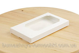 Коробка для шоколада, белый, 160х80х17 (50 штук)