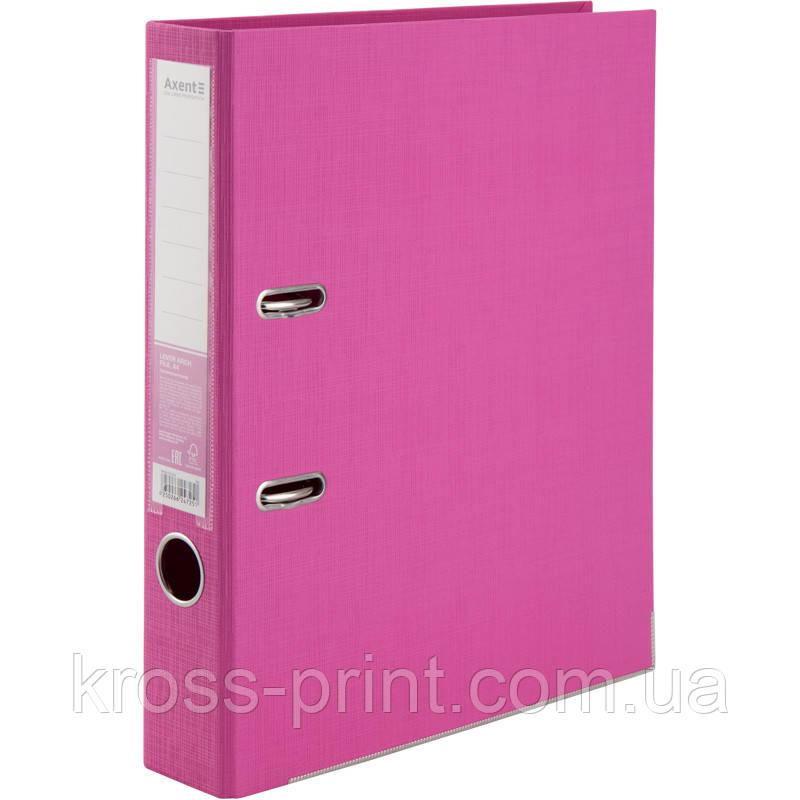 Папка-регистратор Axent Prestige+ 1721-10P-A, двусторонняя, A4, 50 мм, разобранная, розовая