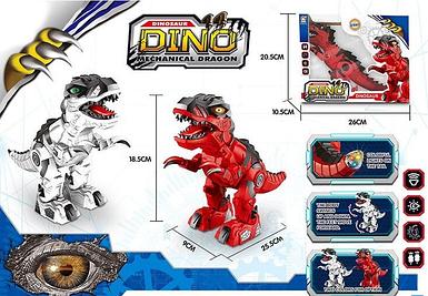Детская игрушка робот-динозавр 666-16 A интерактивный ходячий со светящимися спецэффектами и звуком