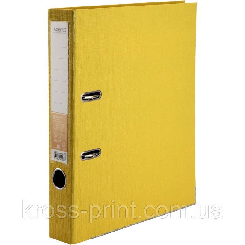 Папка-регистратор Axent Prestige+ 1721-08P-A, двусторонняя, A4, 50 мм, разобранная, желтая
