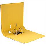 Папка-регистратор Axent Prestige+ 1721-08P-A, двусторонняя, A4, 50 мм, разобранная, желтая, фото 2