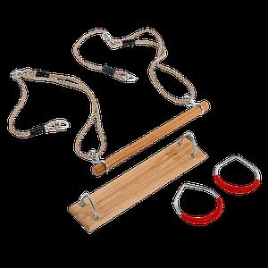 Набір для гойдалок FUN PACK : сидіння, трапеція та гімнастичні кільця