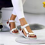 Тільки 24 см! Босоніжки жіночі білі дайвінг, фото 3