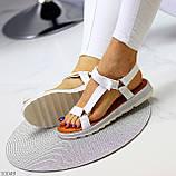 Тільки 24 см! Босоніжки жіночі білі дайвінг, фото 8