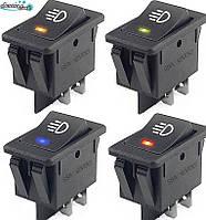 Кнопка - кулісний вимикач 12 В 35A LED фари для приладової панелі автомобілів