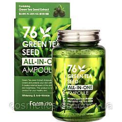 Ампульная сыворотка с семенами зеленого чая FarmStay 76 Green Tea Seed All-In-One Ampoule, 250 ml