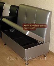 Диван для офиса с втяжками серебро, фото 3