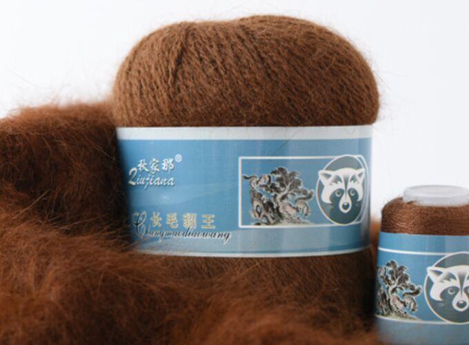 ПУХ НОРКИ 854 (темно-коричневый) - 95% пух норки, 5% ПА