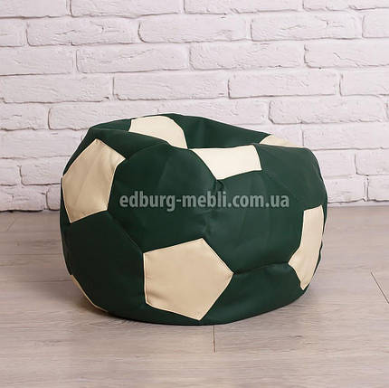 Крісло м'яч 60 см   білий+зелений кожзам Zeus, фото 2