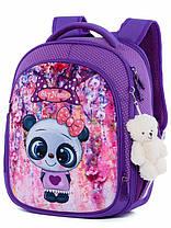 Шкільний рюкзак набір для дівчинки 1-3 клас пенал і сумка для сменки Ведмідь Панда SkyName R4-401, фото 2