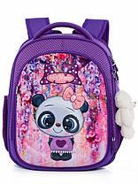 Шкільний рюкзак набір для дівчинки 1-3 клас пенал і сумка для сменки Ведмідь Панда SkyName R4-401, фото 3