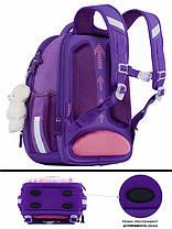 Школьный рюкзак набор для девочки в 1-3 класс пенал и сумка для сменки Мишка Панда SkyName R4-401, фото 2