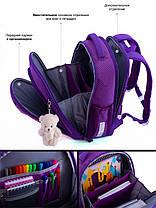 Школьный рюкзак набор для девочки в 1-3 класс пенал и сумка для сменки Мишка Панда SkyName R4-401, фото 3