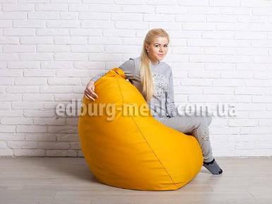 Крісло мішок груша велика | жовтий шеніл Bonus