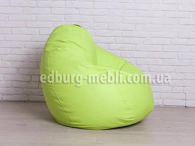 Крісло мішок груша велика | салатовий кожзам Zeus