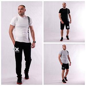 """Стильна чоловіча футболка """"Tape"""" р. L і XL"""