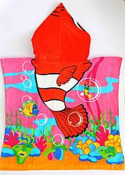 Детское Пляжное Полотенце пончо Немо