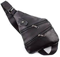 Мужской кожаный рюкзак-слинг на одно плечо Tiding Bag 715C