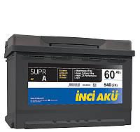 Аккумулятор Inci Aku SuprA 60Ah/540A L+ L2 060 054 113 Автомобильный (Инджи Акю) АКБ Турция НДС