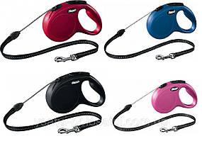 Рулетка для собак Flexi New CLASSIC трос 5 м до 12 кг (4 кольори)