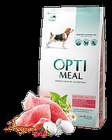 Корм Optimeal Medium With Turkey 12 кг для дорослих собак середніх порід з індичкою