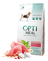 Корм Optimeal Medium With Turkey 4 кг для дорослих собак середніх порід з індичкою