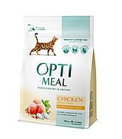 Корм Optimeal Adult Cats Chicken 4 кг для кішок з куркою