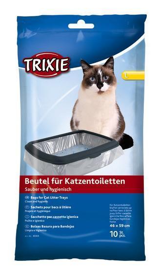 Пакеты уборочные для кошачьих туалетов M: 37 х 48 см, 10 шт