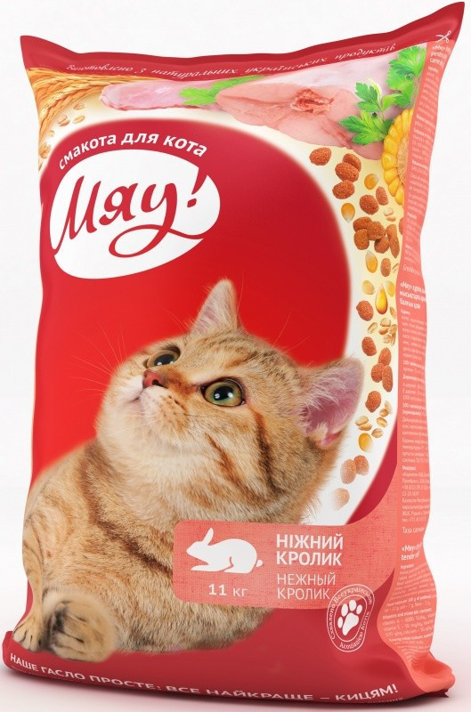 Мяу! Ніжний кролик 11 кг - корм для кішок з кроликом