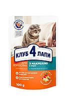 Влажный корм для котов Клуб 4 Лапы рагу с макрелью 100 гр 24 шт