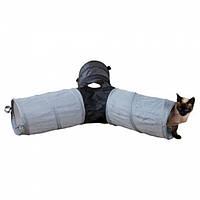 Шуршащий туннель для кошек нейлоновый ø 22 × 50 см