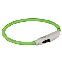 Светящийся ошейник для кота USB 35 см/7 мм, зелёный