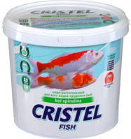 Корм растительный для прудовых видов рыб 5 л /1,4 кг Cristel KOI Spirulina