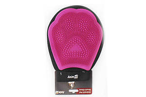 AnimAll Groom перчатка для вычесывания шерсти, розовая