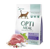 Корм Optimeal Hairball control 10 кг для кішок з ефектом виведення шерсті, з качкою