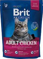 Brit Premium Cat Adult Chicken 1,5 кг сухой корм для взрослых кошек с курицей