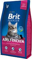 Сухой корм Brit Premium Cat Adult Chicken 8 кг для взрослых кошек с курицей