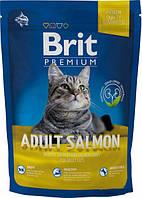 Brit Premium Cat Adult Salmon 1,5 кг сухой корм для взрослых кошек с лососем