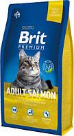 Brit Premium Cat Adult Salmon 8 кг Сухой корм для взрослых кошек с лососем