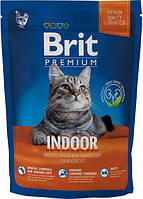 Сухой корм Brit Premium Cat Indoor 1,5 кг для кошек живущих в помещении с курицей