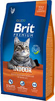 Brit Premium Cat Indoor 8 кг Сухой корм для кошек живущих в помещении с курицей