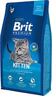 Brit Premium Cat Kitten 8 кг Сухой корм для котят от 1 до 12 месяцев с курицей и рисом
