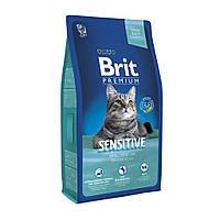 Brit Premium Cat Sensitive 1,5 кг Сухой корм для кошек с чувствительным пищеварением с ягненком и лососем