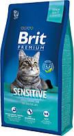 Brit Premium Cat Sensitive 8 кг Сухой корм для кошек с чувствительным пищеварением со вкусом ягненка