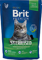 Brit Premium Cat Sterilized 1,5 кг Сухой корм для стерилизованных кошек и котов с курицей и рисом