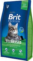 Brit Premium Cat Sterilized 8 кг Сухой корм для стерилизованных кошек и котов с курицей и рисом