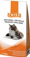 CRISS 10 кг сухой корм для взрослых и пожилых котов с домашней птицей