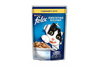 Felix (Фелікс) консерви для котів з куркою 100 г * 20 шт шматочки в желе